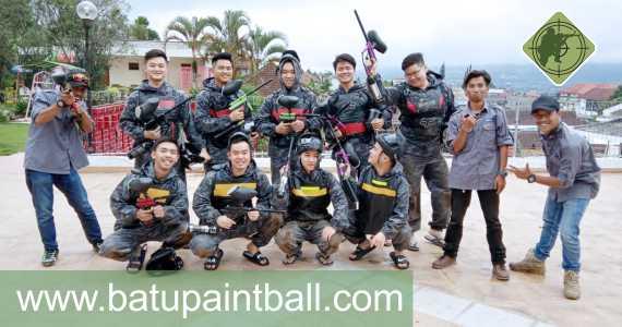 Team Batupaintball dan Client Foto Bersama