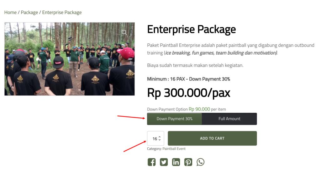 3-Pilh pembayaran dan jumlah peserta