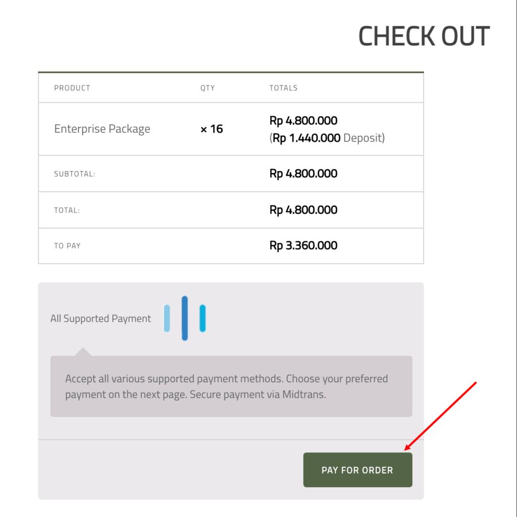 9-Pelunasan pembayaran dari website BatuPaintball